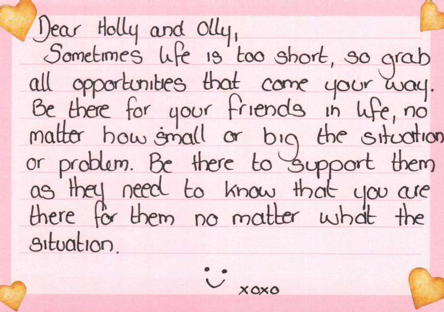 dearholly postcard