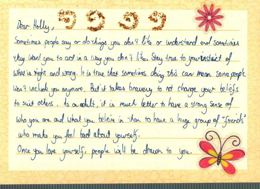 advice postcard