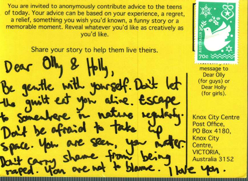 Dear Holly Advice Postcard